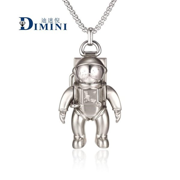 STUDIO LOGO Metal Chain necklace Bracelet Astronaut Astronaut Robot Necklace Wandering Earth Pendant zdl 89.