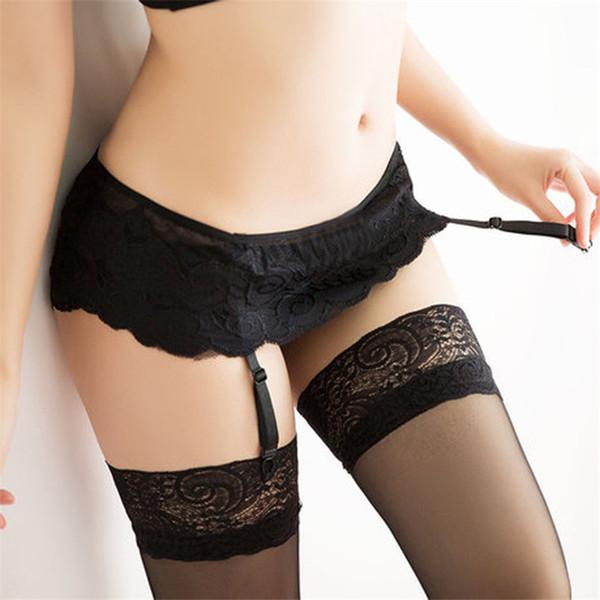 mejor sitio web 39aa0 bb133 Compre 2018 Conjunto De Lencería Sexy Lencería Sexy Tirantes Eróticos  Calientes Medias Liguero + Larga Media Sexy Ropa Interior De La Entrepierna  ...