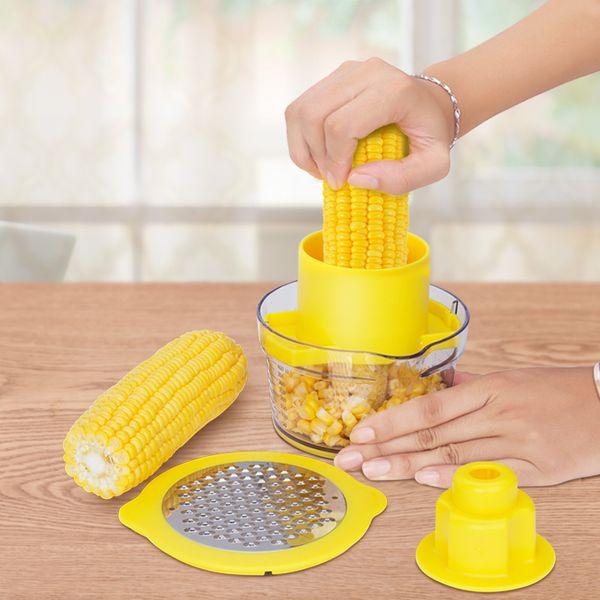 Kreative Nützliche Manuelle Yellow Corn Stripper Maisschäler Cob Cutter Zester Küche Zubehör obst Gemüse ToolsHK0104