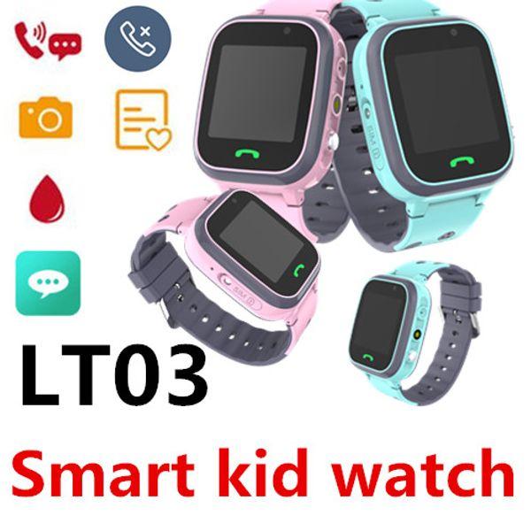 LT03 Smart KID Uhr Wasserdicht LBS Basisstation Positionierung Sprachanruf Fernüberwachung SMS-Abfrage Dual Core Big Akku Taschenlampe 50er Pack