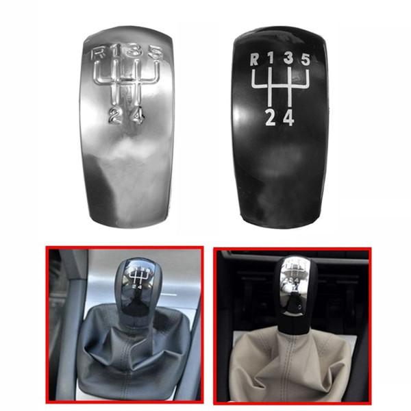 Chrome Black 5 Speed Gear Shift Knob Cap Cover For Octavia MK2 1Z0798001