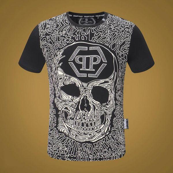 2019 The New Cotton Men camiseta de manga corta Summer Casual Skull pattern Medusa Men T Shirt fashion T Shirt top