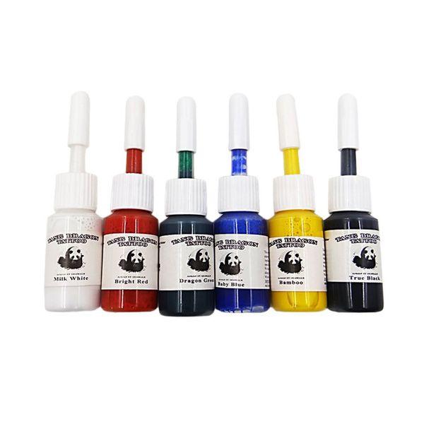 pigment encre tatouage 6pcs / set Couleurs professionnelles Multirisques de tatouage d'encre pigment Set Kits de Bouteilles Body Art Accessoires Vente chaude
