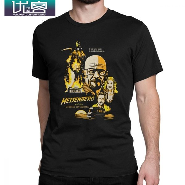 Heisen And The Cartel des Todes T-Shirt für Herren Walter White Classic Tops T-Shirt Rundhals 100% Baumwolle T-Shirts