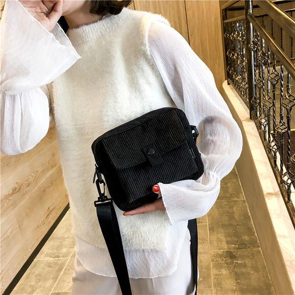 OCARDIAN Handbag Simple Women High Quality Solid Canvas Shoulder Bag Female Fashion Trend Versatile Messenger Bag Dropship May7