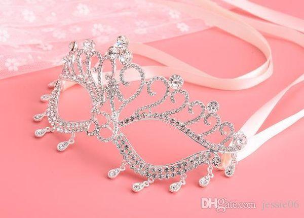 Eye Mask Crystal Rhinestone Royal Venetian Masquerade Wedding Bridal Prom Party