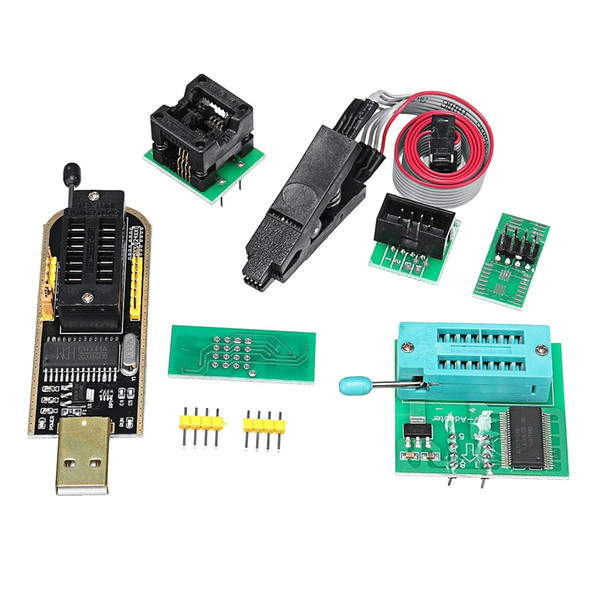 Freeshipping EEPROM Flash BIOS USB Programmer Module CH341A + SOIC8 Clip + 1.8V Adapter + SOIC8 Adapter