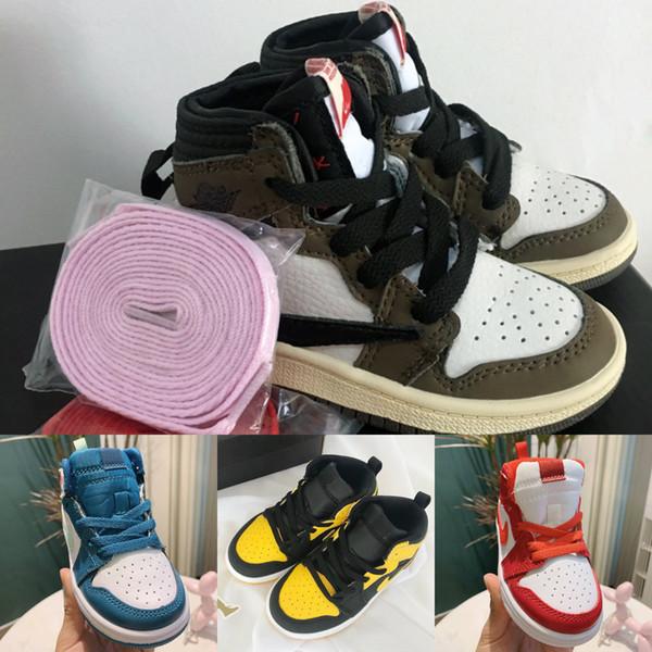 Kids Sneakers Jam 1s Basketballschuhe für Kinder 1 Infant Boy Girl Sneaker Kleinkinder New Born Baby Trainer Kinderschuhe Größe: 22-37