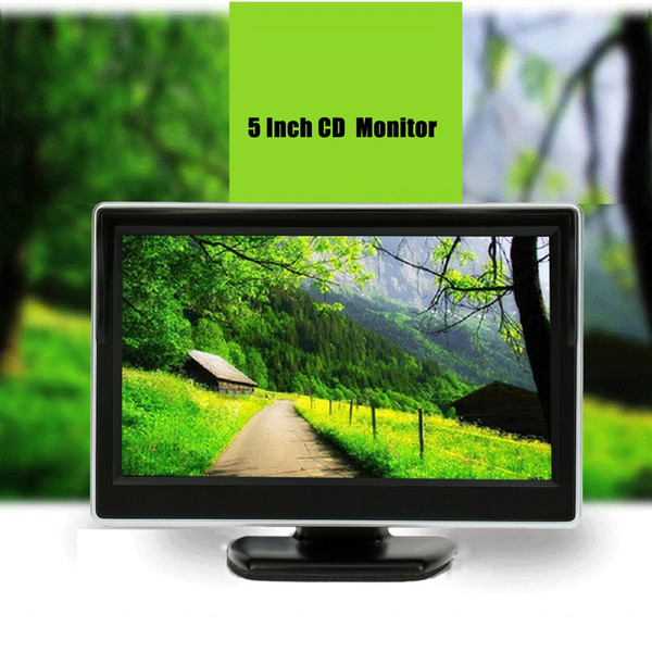 Freeshipping 5.0 Inch Car Monitor TFT LCD 800*480 Color 16:9 Screen 2 Way Video Input For Rear View Backup Car Rear View Camera VCD DVD GPS