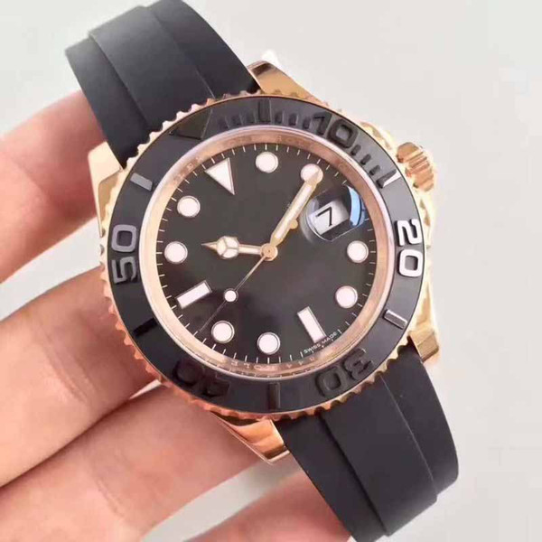 Mens Limited Edition Perpetual 40mm 116655 Rubber Bands 18k Rose Gold 3135 Movement Automatic Mens Sport Watches