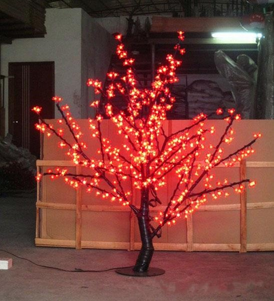 LED Cherry Blossom Tree Light 480pcs LED Bulbs 1.5m Height 110/220VAC Seven Colors for Option Rainproof Outdoor Usage Drop Shipping