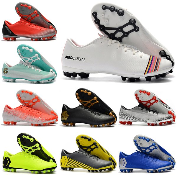 New Mens Low Ankle Football Boots LVL UP Vapors 12 Academy CR7 AG-R Soccer Shoes Mercurial Superfly AG Neymar ACC Soccer Cleats
