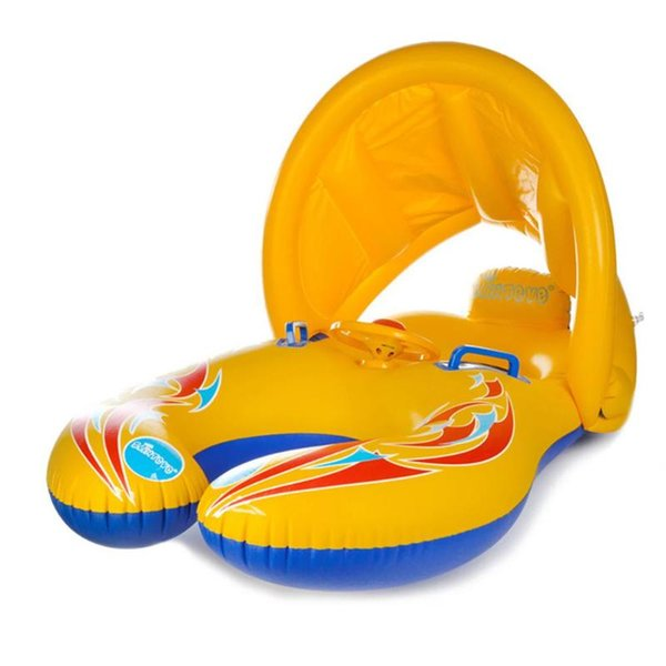 best selling Baby Kids Summer Swimming Pool Swimming Ring Inflatable Swim Float Water Fun Pool Toys Swim Ring Seat Boat Sport for 3-6Y