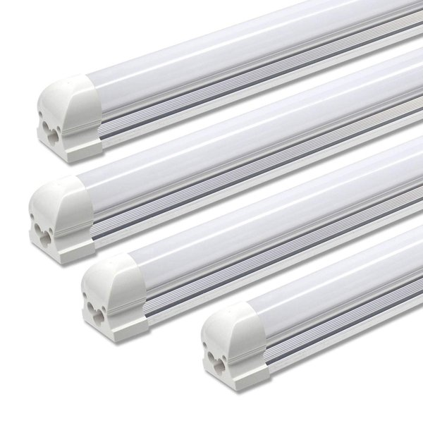 Astonishing 25 Pack Led Shop Light 8Ft 72W 5000K 6000K 7200Lm Frosted Cover Anti Glare Linkable Led Ceiling Light For Workbench Garage T8 Tube T8 Fluorescent Tube Machost Co Dining Chair Design Ideas Machostcouk