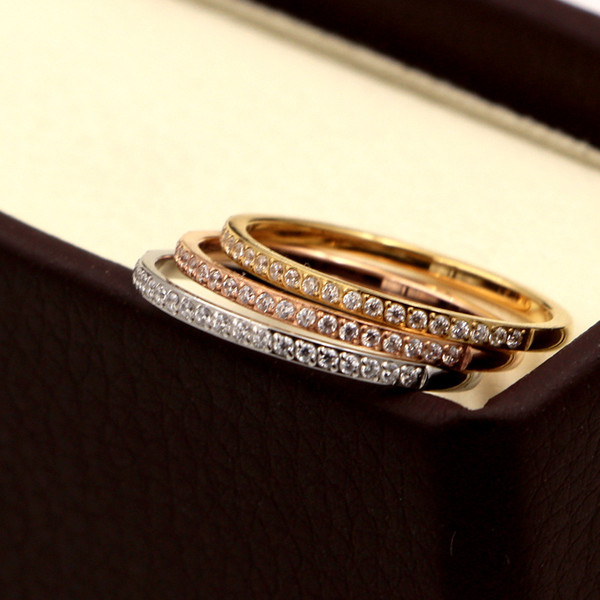 High quality 20 small diamond micro diamond ring for ladies/men's crystal rose gold jewelry