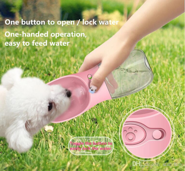 350ML 550ML Portable Pet Dog Water Bottle Travel Dogs Bowl Care Cups Dogs Cats Feeding Water Outdoor For Puppy Cat Pets Supply
