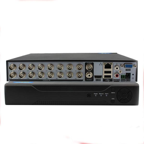 16Ch DVR Hybrid 5-in-1 Supporto per registratore video su disco Analogy + TVI + CVI + AHD + 960H IP) H.264 CCTV 16 canali DVR autonomo Guscio metallico