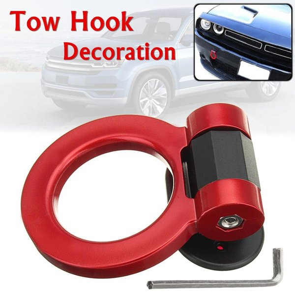 Areyourshop Universal Car Simulation Trailer Tow Hook Decorative Racing for Truck SUV Front Bumper