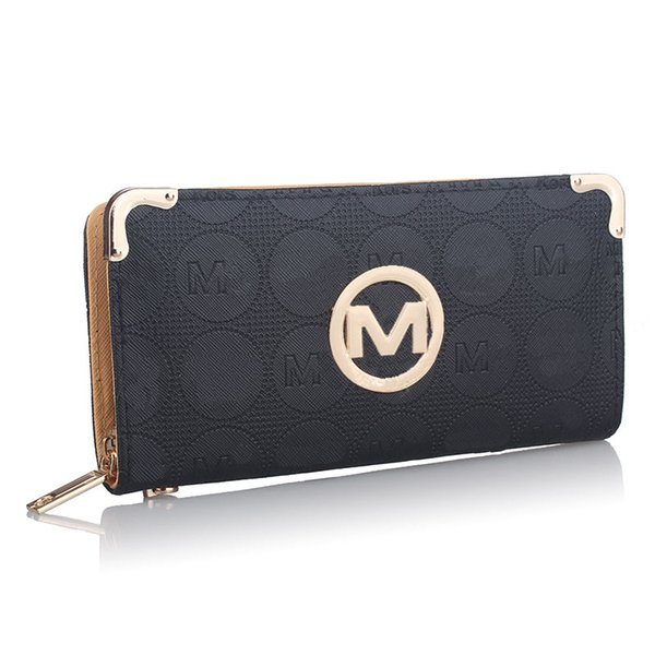 2019 женщин дизайнер кошелек роскошный PU кожа молния кошельки сумки с слот для карт бренда Fashin сцепление деньги сумка держатель карты карман B61302