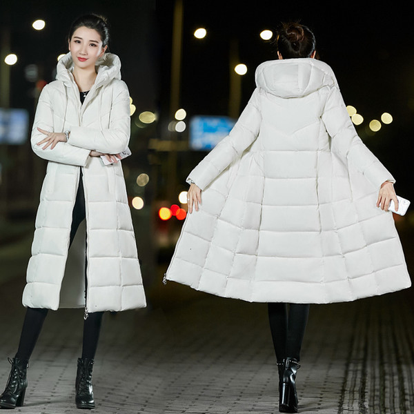 parka femme down coat size plus 6xl women winter coat slim cotton padded basic jacket female medium long outwear casaco feminina new