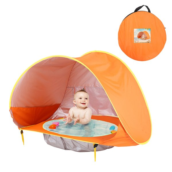 Baby Tent Kids Outdoors Beach Tents Sunshade Ball Pool Toy House Ultraviolet Proof Castle Shelters Foldable Pool Tent GGA2351