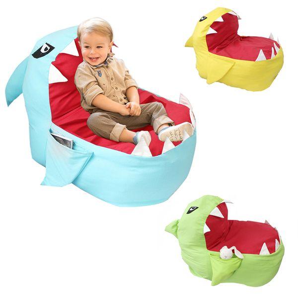 Creative Shark Animal Cartoon Storage Bag Modern Storage Stuffed Storage Bean Bag Chair Portable for Kids Toys Clothes LE352