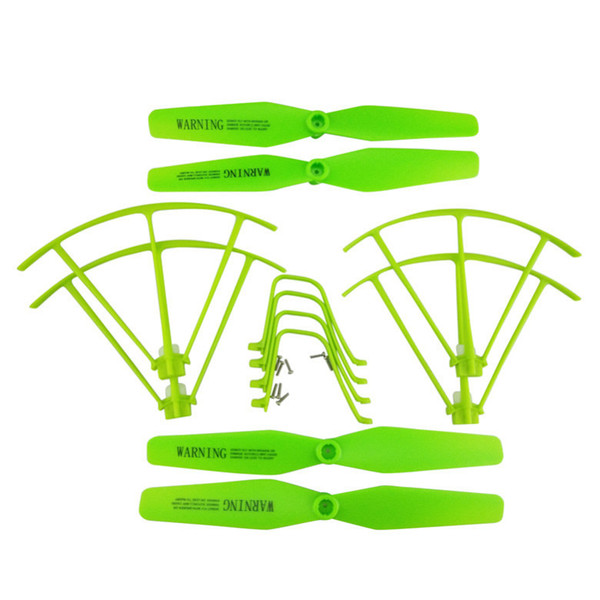 Syma X5U X5UW X5UC Helicopter Parts Protective Frames Landing Gears Blade Propeller Green Color