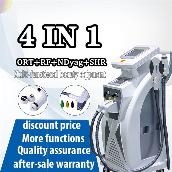 Factory price Multifuctional ipl laser hair removal machine for OPT Hair Removal rf face lifting nd yag laser tattoo removal