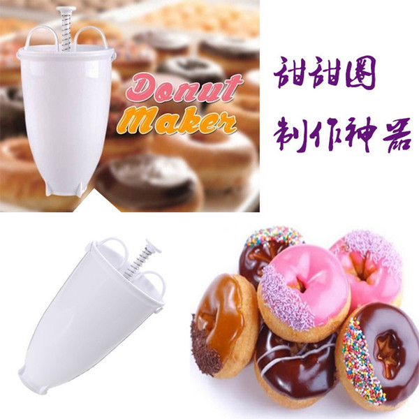 Popular Creative DIY Weight Donut Maker Plastic Light Donut Making Artifact Fast Easy Donut Mould Waffle Doughnut Machine