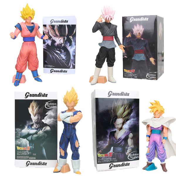 Nouvelle taille Big 28-31cm Dragon Ball Z Sangoku Résolution Figurine de soldats Super Saiyan Vegeta rose PVC Action Figure Jouets