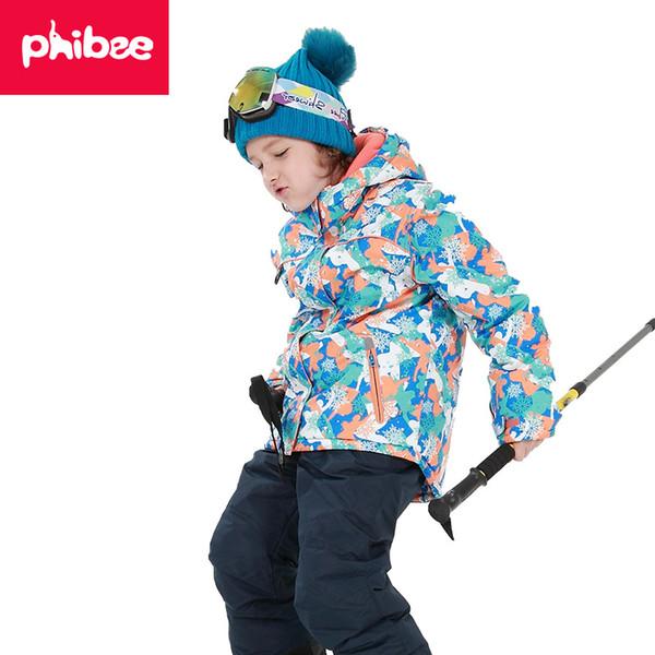 2018 heißer Verkauf Marke Jungen / Mädchen Skianzug Wasserdichte Hosen + Jacke Set Wintersport Verdickte Kleidung Kinder Skianzüge