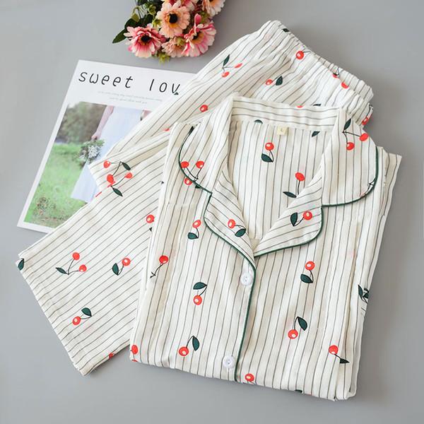 Thin Postnatal Women Nursing Pyjamas Print Breastfeeding Pijamas Mujer Night Suits Kawaii Sleepwear Cotton Maternity Homewear