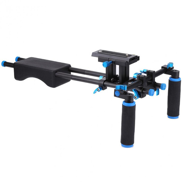 Freeshipping D2 DSLR Rig Camera Mount Head Handheld Video Shoulder Support System 15mm Rod Clamp Bracket Stand