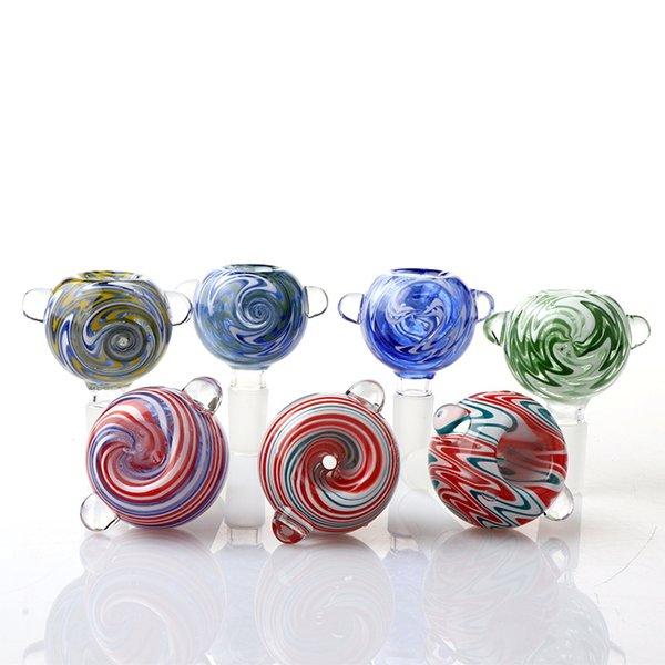 Neue Perücke Wag Glasschüssel 14mm Männliche Farbe Blase Ball Rauchen Bong Schalen Stück Für Tabak Kraut Glas Wasser Bongs Tupfen Rigs Rohre