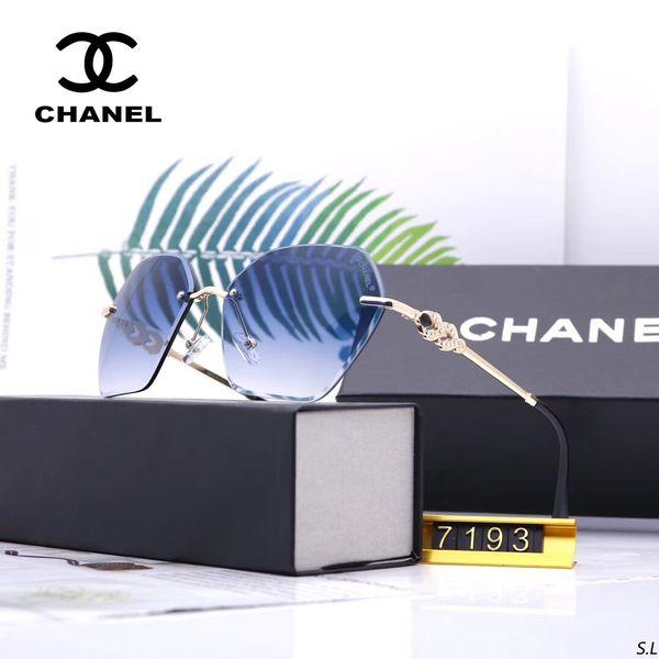7193 Yeni moda marka tasarımcısı klasik erkek ve kadın güneş gözlüğü metal çerçeve sürüş tarzı ile açık tasarım klasik orijinal kutu