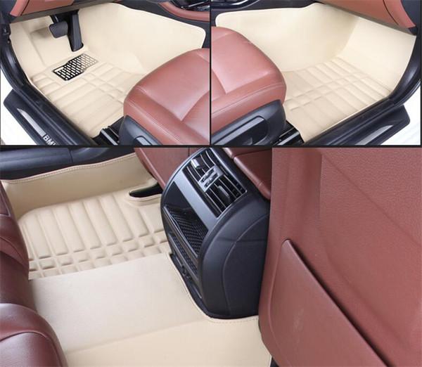 Anwendbar auf Ford EcoSport 2013-2018 Auto Fußmatte vorne und hinten Pad Zubehör rutschfeste wasserdichte Leder Teppich Auto Matte