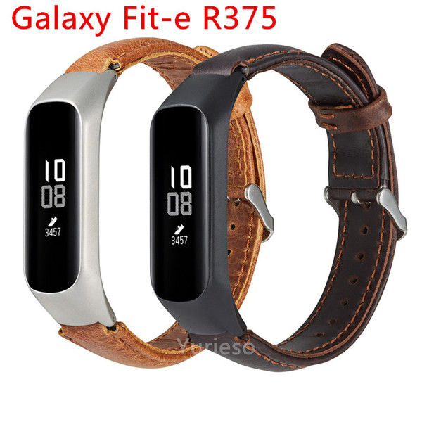 Smart Watch Smartwatch Wrist Band Leather Watch Replacement Strap For Samsung Galaxy fit-e R375+ Metal Frame Straps Smartband