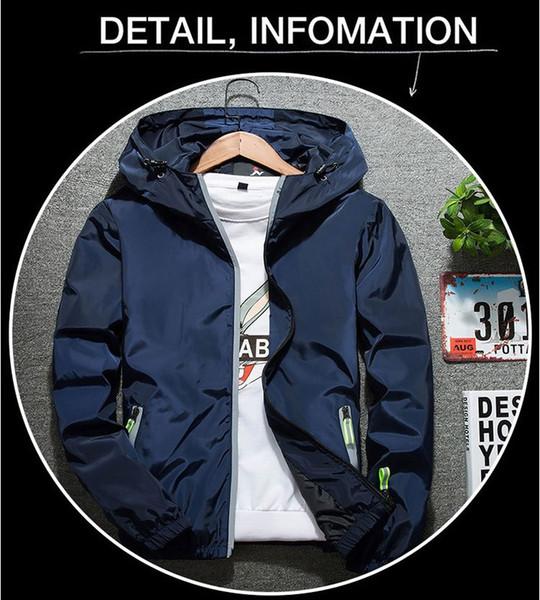 2019 Venta caliente Al Por Mayor Nueva Marca Diseñador Chaqueta de Marea Para Hombre Chaqueta de Abrigo Impreso de Lujo Para Hombre Con Capucha Casual Deporte Ropa Al Aire Libre