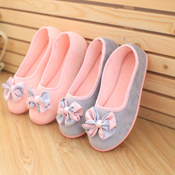 Zapatillas de casa para mujer Zapatillas de mujer empalmadas Zapatillas de interior embarazadas cálidas para mujeres Zapatos Casual Mujer Venta caliente 2019 Invierno Otoño