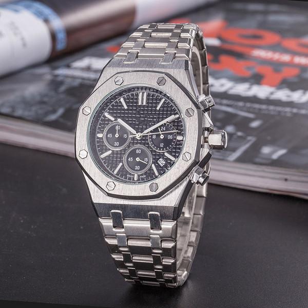 Del progettista di marca della vigilanza di lusso del Mens orologi cintura in acciaio orologio d'oro della moda retrò scolpito Philip uomo casual da polso montre de luxe4