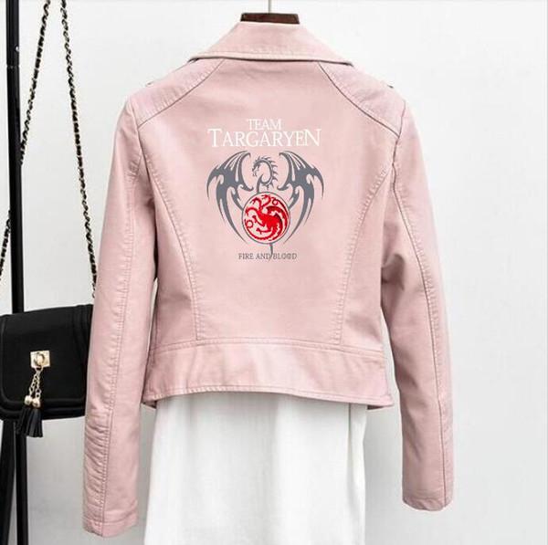 Новая куртка женская Power Game Лед и пламень Песня Танжера Кожаная куртка Молния Кожаный панк Мотоциклетный спортивный топ
