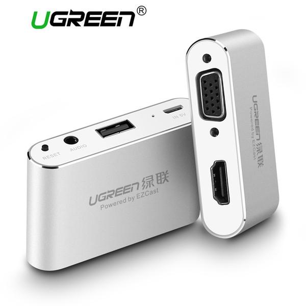 Samsung için iPhone 8 7 artı 6S iPad İçin HDMI VGA + Video Converter Dijital AV Adaptörü 1 USB Ses Adaptörü USB içinde Ugreen 3