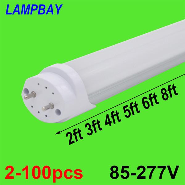2-100pcs LED Röhre 2ft 3ft 4ft 5ft 6ft Retrofit Leuchtstofflampe 0,6 m 0,9 m 1,2 m 1,5 m 1,8 mt T8 G13 Bar Lampe 24