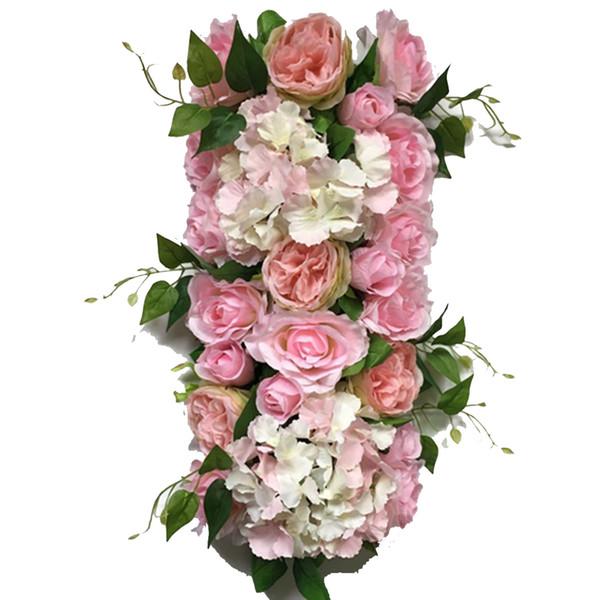 Новый Искусственный Роза Гортензия Цветок Стены Свадьба Этап Фон Украшения Дороги Тинг Тинг Клык Тинг Арка Украшения
