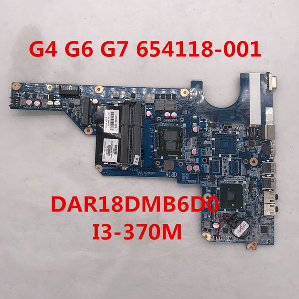 High quality for Pavilion G7 G4-1000 G6-1000 Laptop motherboard 654118-001 DAR18DMB6D0 With I3-370M CPU Intel HM55 8GB DDR3 100% full Tested