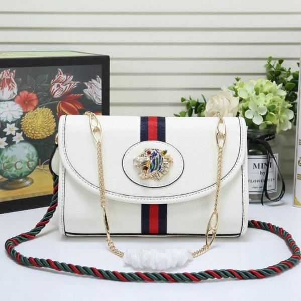 Женская дизайнерская цепочка на плечо сумка Персонализированные кристалл тигра головы украшения Женская мода сумка через плечо размер 24 * 16 * 5