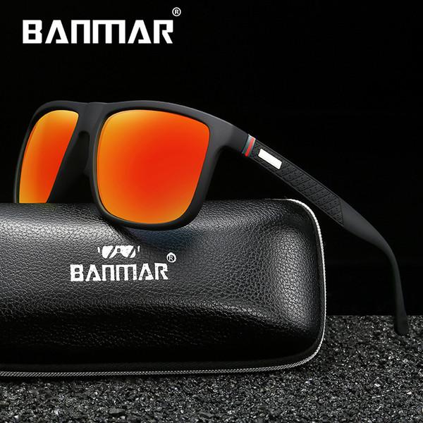 BANMAR Uomo Occhiali da sole polarizzati Occhiali da sole colorati Occhiali da guida rettangolo per uomo / donna Oculos masculino Uomo 182