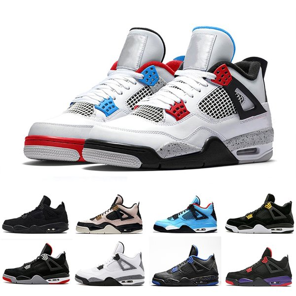 2019 Wings 4 Silt Red 4s What The Men Basketball Shoes Women Black Cat white cement Bred Cool Grey Royalty Mens sports sneakers
