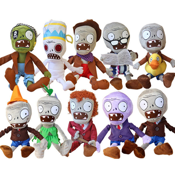 10pcs/lot 30cm Plants Vs Zombies Plush Toys Plants Vs Zombies Pvz Zombies Stuffed Plush Toys Soft Toy Doll Gifts For Children Y19070103