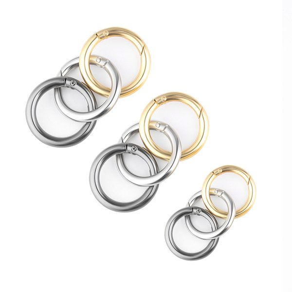 6 pcs Snap Clip Trigger Spring Gate O ring Keyring Buckle Bag Accessories Rings